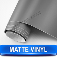 Matte Grey Vinyl Wrap Car Film / Bubble Free Car Styling Installation / Free Shipping Wholesale