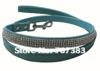 free shipping 5 color Dog leash pet leash  delicate pet leashes & collars custominzed Rhinestone Collars pet belt