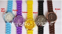 Free shipping 20pcs/lot  WOMAGE  fashion silicon jelly watch, high Quality  flower watch,Quartz watch,12 colors available