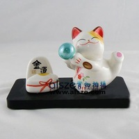 Name card holder,office application, promoting gift,Sales Promotion ceramic maneki neko,lucky cat,fortune cat, 53335A