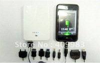 power bank 5000mah external battery 2 USB port  portable charger for iphone samsung htc nokia etc free shipping