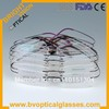 Free shipping 8 colors rimless hingless memory titanium eyeglasses eyewear optical frames 1001
