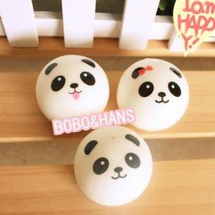 New Cute panda baby squishy charm / mobile phone strap Pendant / Wholesale
