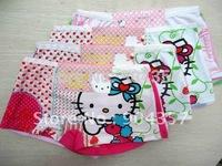 Wholesale Cotton  Hello Kitty Girls Panties Underwear Strawberry Kids Underpants Shorts Pants Colorful Boxer