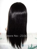 Fashion16inch 18inch 20inch straight100% brazilian virgin hair full lace wigs baby hair free shipping