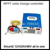 free shipping 60A 12v 24v 48v Solar controller MPPT solar voltage controller