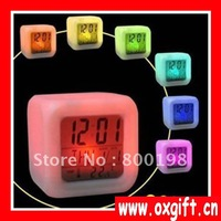 OXGIFT Glowing Change Multifunction music Digital LED Colour Alarm Clock, best gift for houseware