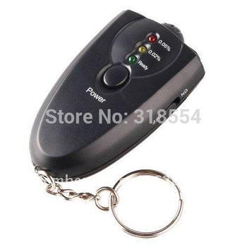 450pcs/lot LED Light Accurate Breath Alcohol Tester Breathalyzer Flashlight Black Colored LED Free Shipping