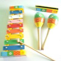 Children's educational toys music suite hand-struck piano shaker harmonica  #2061
