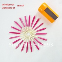 Freeshipping 100bottles/lot 1bottle(20pcs) outdoor Windproof waterproof matches survival selfsave camping match outdoor LS4013