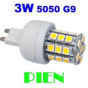 LED Bulb G9 3W 5050 SMD 27 LED Corn Light 360 degree Mini Home Lamp High Power Cold|Warm White  CE&ROHS Free Shipping 5pcs/lot