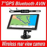 7 inch GPS navigation,Bluetooth,Av In,FM,MTK,Wince 6.0,DDR128MB,800*480,4GB,load 3D map,Wireless rear view camera