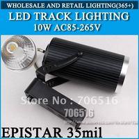 LED Track Lighting AC85-265V Epistar 35mil 10W 1000LM Warm White / Cool White Free Shipping/DHL