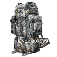 Retail Camping backpack with back support, Special forces camouflage backpack Free shipping