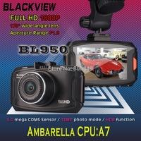 "New Blackview Car Camera Recorder BL950 Ambarella A7 Chipset DVR 1080P Full HD H.264 170 Degree Wide Angle 2.7""LCD Display"
