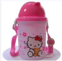 Free shipping! New arrival hello kitty high quality hiking diy drinking straws water bottle for 2013,drink bottles,350ml