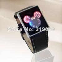 LED digital Mickey Mouse Watch,fashion LED Watch,Student Cartoon Watch ,Children Sports Watch XMAS gift ML0239