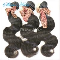 3Pcs/lot 6A Indian Virgin Hair Body Wave Extension Natural Colors Human Mocha Hair Weaves Mocha Hair Freeshipping