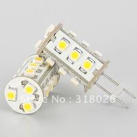 Free Shipment 15 LED G4 Bulb 24Vdc 3528 SMD 105-120LM  0.9W Marine Camper Car Lamp Light Warm White