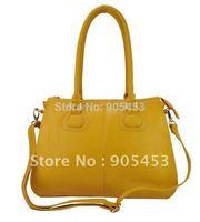 2013 Free Shipping Women Handbags  Earth Yellow Colour Fashion Shoulder Bags  PU Leather Tote Bag TB178