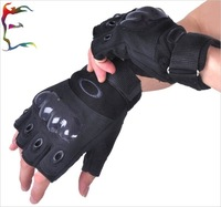 Military Tactical Gloves Half finger Carbon knuckle man casual Gloves tactical Turtle shell Army police Mountain climbing Gloves