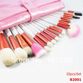 Free shipping 20 pcs/Set Make up brushes kit High quality professional makeup tools