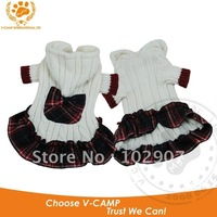 Cleance Stock! Comfy and warm dog sweater skirt Scotland style skirt for small dog