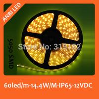 SMD LED flexible strip light with tube, 5050 SMD,60led/m,DC 12V,5m/reel,waterproof,IP65,warn white