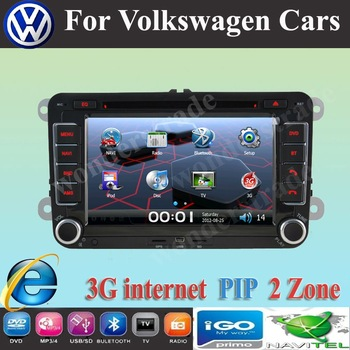 Car DVD GPS volkswagen GOLF POLO PASSAT CC JETTA TIGUAN TOURAN EOS SHARAN SCIROCCO TRANSPORTER (T5)CADDY   3G internet Free map