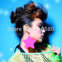 Fashion Earrings Women's Jewelry HIPHOP Star Neon Drop Earring Super Big 10cm