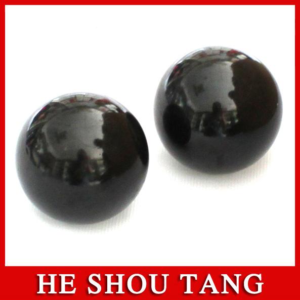 3A Grade Energy Massage Ball/Magic Health Hand Fit Ball/ Black Bianstone(China (Mainland))