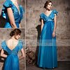 Coniefox V-Neck Tencel Royal Blue Party Gown 81083(China (Mainland))