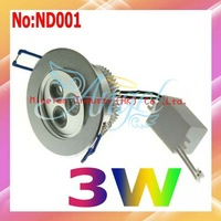 AC 90-265V  3W Warm white or White 205LM LED Lighting Free shipping Wholesale and Retail  #ND001