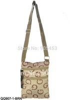 2014 fashion men shoulder bag,letter pattern men messenger bag,business bag,free shipping (black,brown,dark brown,Grey)/QQ907G