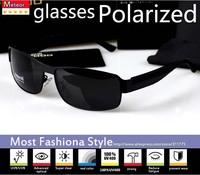 High-quality professional rectangle sunglasses men polarized brand, Metallic simple sense UV400 sunglasses men polarized driving