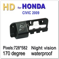 CCD HD auto rearview camera170 degree for Honda CIVIC 2009 Waterproof Shockproof Night version Size:85*31*32.6mm Drop Shipping