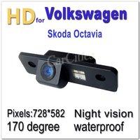 CCD HD Car Camera Wired/Wireless170 degree for Volkswagen Skoda Octavia Waterproof  shockproof Night version Size:87*26.5*29.8mm