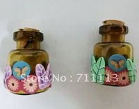 perfume bottle glass bottle 2ml leaves small  perfume pendant suitable for oils, perfumes free shipping
