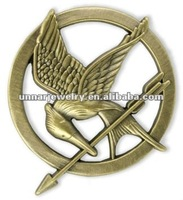 Katniss Movie The Hunger Games  antique brass PIN Free shipping