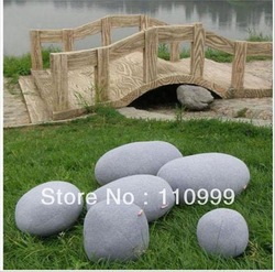 EMS Free shipping living stones pillow 6PCS/LOT pebble stone pillow/Beautiful design/eco-friendly material 3 color choice!(China (Mainland))