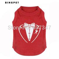 Free Shipping Wholesale MOQ 12 pcs As Photo Design printed Pet T shirt Dog T Shirt  4 colors mixed