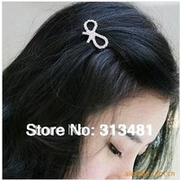 New Fashion Cute Silver Hairpins Bownot Hair Accessories 3pcs/Lot Z-S3010 Free shipping