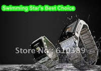 Free Shipping real Waterproof Stainless Steel JAVA Watch MP4 Camera Mobile Cell Phone W818 Black/Silver