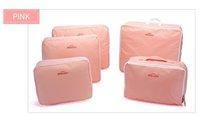 Free Shipping 2012 New Traveling Bag in Bag , Mesh pouch  Organizer Bag (5pcs/set)big discount