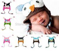 Cartoon Designs 100% Handmade Children Crochet Hats Various Animal Styles Baby Owl Beanie hat Kids Flower Caps 10pcs lot H021