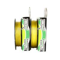 Wholesale - 100yds 6LB10LB15LB20LB30LB40LB50LB60LB80LB100LB yellow colore dyneema braided fishing  line  free shipping