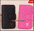 Hot selling deluxe leather flip pouch wallet cover case for iphone 4 4s,luxury case CC logo with retail package for iphone4