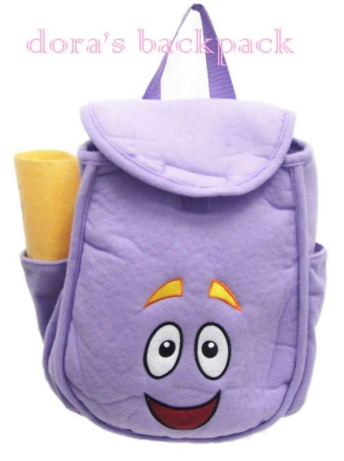 Grátis Dora envio o tamanho Explorador Plush Backpack Pré Escola Bolsa Criança 27 * 21 * 11.5New Atacado e Varejo(China (Mainland))