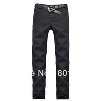 Kingtime Freeshipping  Men's Pants Leisure Straight Fashion Trousers Casual Cotton Pant Black Kahki  size:XS-4XL KTB01
