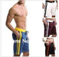 Free shipping Men's Cool Leisure Sports Middle Pants Swimming Trunks Tennis Pants 3 color 3 size high qality